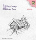 Nellie Snellen - Clearstamps - Cosily snowy cottage