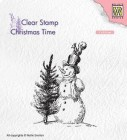 Nellie Snellen - Clearstamps - Snowman with tree