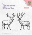 Nellie Snellen - Clearstamps - Two reindeer