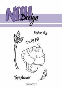 NHH Design - Clearstamp - Turturduvor - NHH Design - Clearstamp - Turturduvor