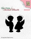 Nellie Snellen - Clearstamps - Angel girl and boy