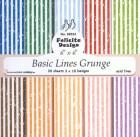 Felicita design - Papper - Basic Lines Grunge