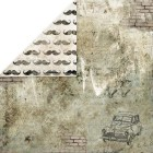 Craft & You - Dubbelsidigt papper - Vintage Man 06, 30x30 cm