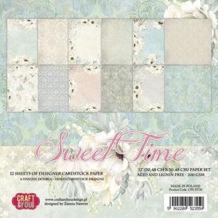 Craft & You - Pappersblock Dubbelsidigt papper - Sweet Time, 30x30 cm - Craft & You - Pappersblock Dubbelsidigt papper - Sweet Time, 30x30 cm