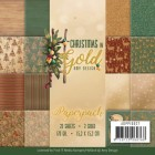 Amy Design Pappersblock - Christmas in Gold