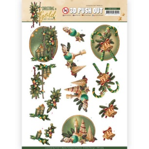 Amy Design 3D Utstansat - Christmas in Gold - Lanterns in Gold - Amy Design 3D Utstansat - Christmas in Gold - Lanterns in Gold