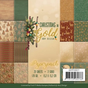 Amy Design Pappersblock - Christmas in Gold - Amy Design Pappersblock - Christmas in Gold