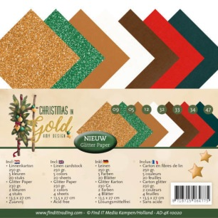 Amy Design - Pappersblock - Christmas in Gold - Amy Design - Pappersblock - Christmas in Gold