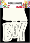 Dutch Doobadoo Card Art stencil - Boy A5