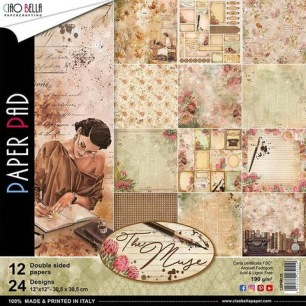 Ciao Bella Papeercrafting - Paper Pad - The Muse - Ciao Bella Papeercrafting - Paper Pad - The Muse