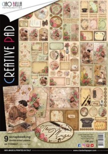 Ciao Bella Papercrafting - A4 - The Muse - Ciao Bella Papercrafting - A4 - The Muse