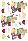 Dan design 3D Klippark - Rödvin och ost