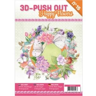 Cardbook - 3D utstansat - Happy Flowers no15 - Block - 3D utstansat - Happy Flowers no15