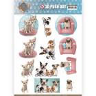 Amy Design 3D Utstansat - Dogs Life - All kind of dogs