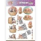 Amy Design 3D Utstansat - Cats World - Kittens