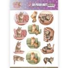 Amy Design 3D Utstansat - Cats World - Show Cats