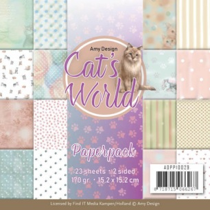 Amy Design Pappersblock - Cats World - Amy Design Pappersblock - Cats World