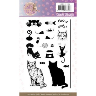 Amy Design - Clearstamp - Cats Word - Amy Design - Clearstamp - Cats Word