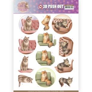 Amy Design 3D Utstansat - Cats World - Show Cats - Amy Design 3D Utstansat - Cats World - Show Cats