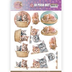 Amy Design 3D Utstansat - Cats World - Kittens - Amy Design 3D Utstansat - Cats World - Kittens