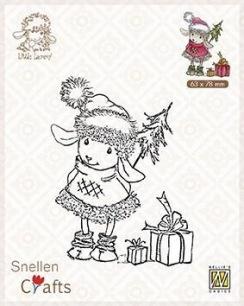 Nellie Snellen - Clearstamps - Littel Lammy - Happy with presents - Nellie Snellen - Clearstamps - Happy with presents