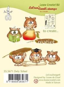 Leane Creative - Clearstamp - Owl/School - Leane Creative - Clearstamp - Owl/School