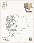 Nellie Snellen - Clearstamps - Littel Lammy - Lammy with star