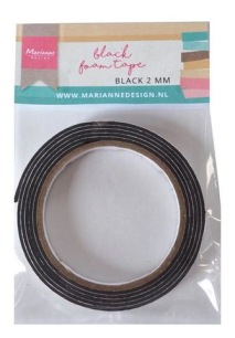Black Foam Tape - 12x2 mm - Black Foam Tape - 12x2 mm