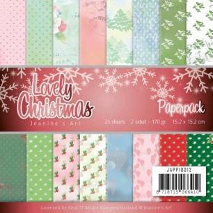 Jeaninés Art Pappersblock - Lovely Christmas - Jeaninés Art Pappersblock - Lovely Christmas