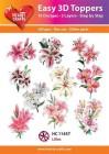 Easy 3D Utstansat - Lillies