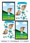 Barto Design - 3D Klippark - Tjej som spelar golf