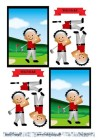 Barto Design - 3D Klippark - Kille som spelar golf