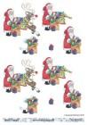 Barto Design - 3D Klippark - Tomte m ren och julklappssäck