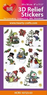 3D Relief Stickers - Snowmen - 3D Relief Stickers - Snowmen