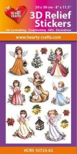 3D Relief Stickers - Angels - 3D Relief Stickers - Angels