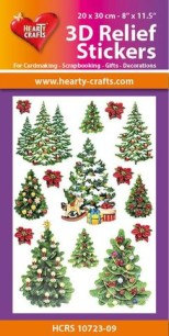 3D Relief Stickers - X-mas Trees - 3D Relief Stickers - X-mas Trees
