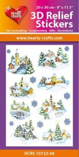 3D Relief Stickers - Winter Village - 3D Relief Stickers - Winter Village