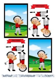 Barto Design - 3D Klippark - Kille som spelar golf - Barto Design - 3D Klippark - Kille som spelar golf
