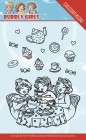 Yvonne Creation - Clearstamp - Bubbly Girls - Tea Party