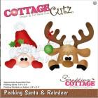 Cottage Cutz - Dies - Peeking Santa & Reindeer