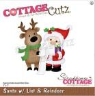 Cottage Cutz - Dies - Santa w/List & Reindeer