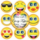 Dixi Toppers - Expoxy Toppers - Smileys