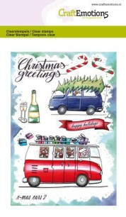 CraftEmotions - Clearstamps A6 - X-mass cars 2 - CraftEmotions - Clearstamps A6 - X-mass cars 2