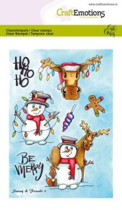 CraftEmotions clearstamps A6 - Snowy & friends 1 - CraftEmotions clearstamps A6 - Snowy & friends 1
