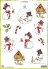 CraftEmotions - Decoupage sheets - Snowy & friends