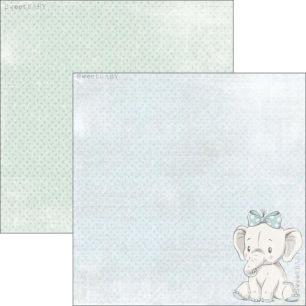 Reprint - Sweet Baby Blue Elephant - Reprint - Sweet Baby Blue Elephant