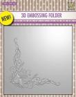 Nellie Snellen - 3D Embossingfolder - Poinsetta corner