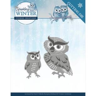 Yvonne Creations Dies - Winter Owls - Yvonne Creations Dies - Winter Owls