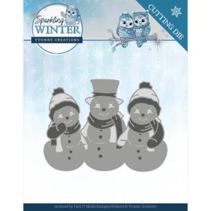 Yvonne Creations Dies - Sparkling Snowmen - Yvonne Creations Dies - Sparkling Snowmen