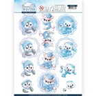 Yvonne Creations 3D Utstansat - Sparkling Winter - Winter Friends